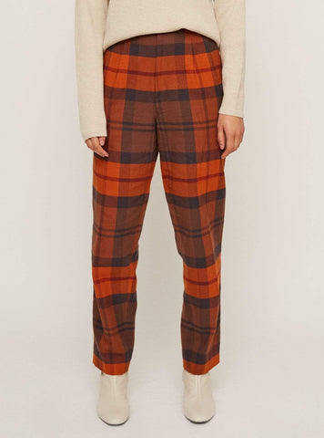Checkered - trouser - red/black