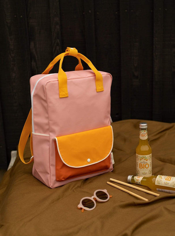 sticky lemon Kids bags Large wanderer - backpack - candy pink