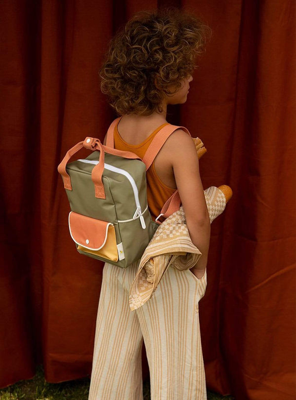 sticky lemon Kids bags Small wanderer - backpack - seventies green