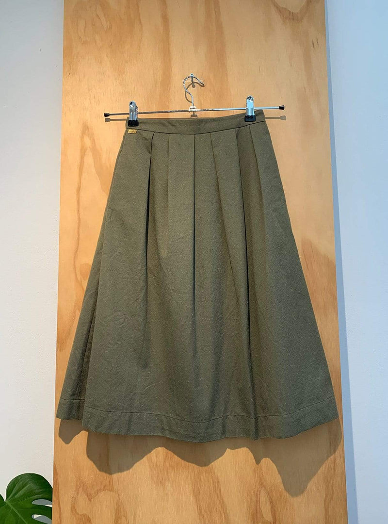 studio JUX Archive sale 34 Pleated skirt - olive