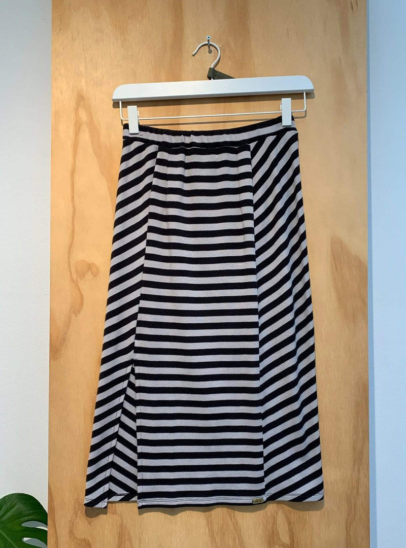 studio JUX Archive sale 36 Jersey cotton - striped skirt - grey/black