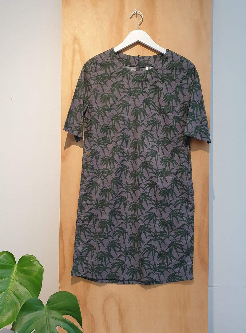 studio JUX Archive sale 36 Midi dress - palm print