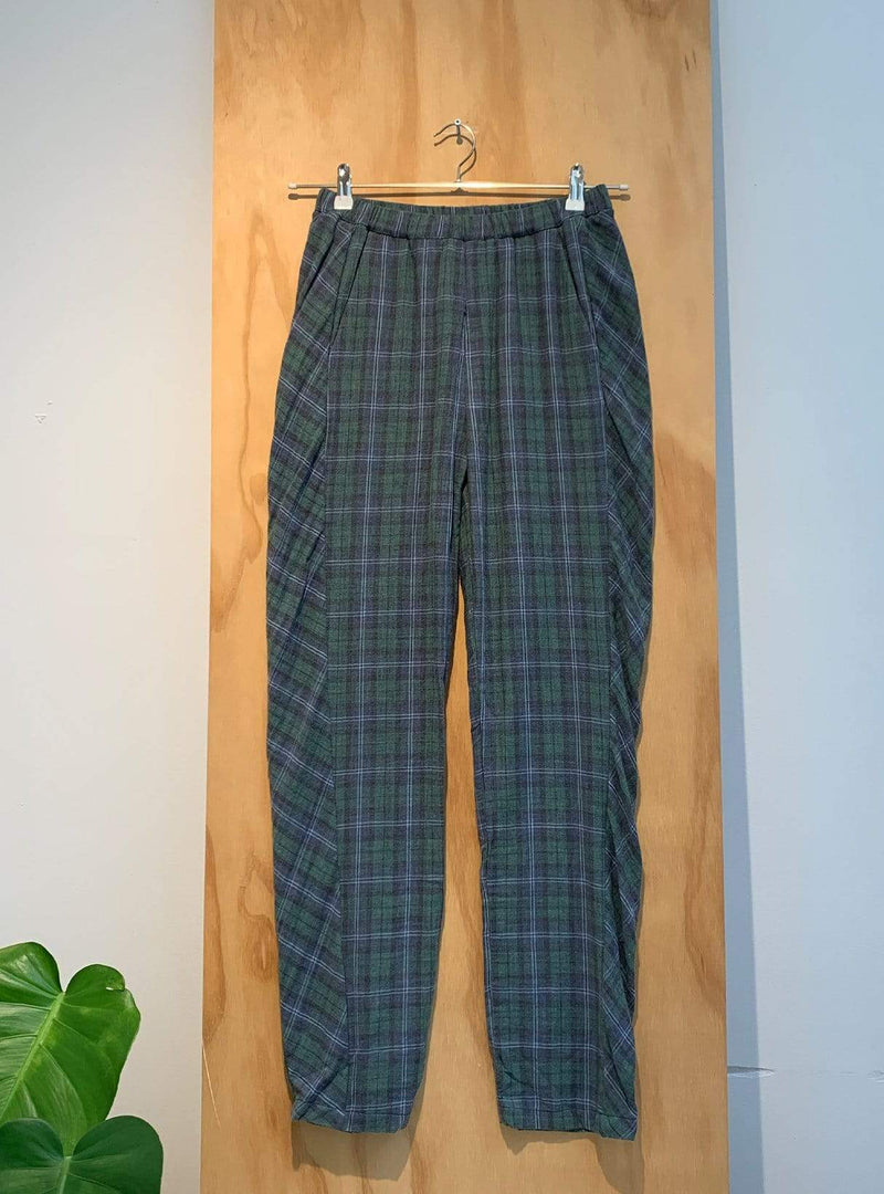 studio JUX Archive sale 36 Organic cotton - checkered trouser - green mix