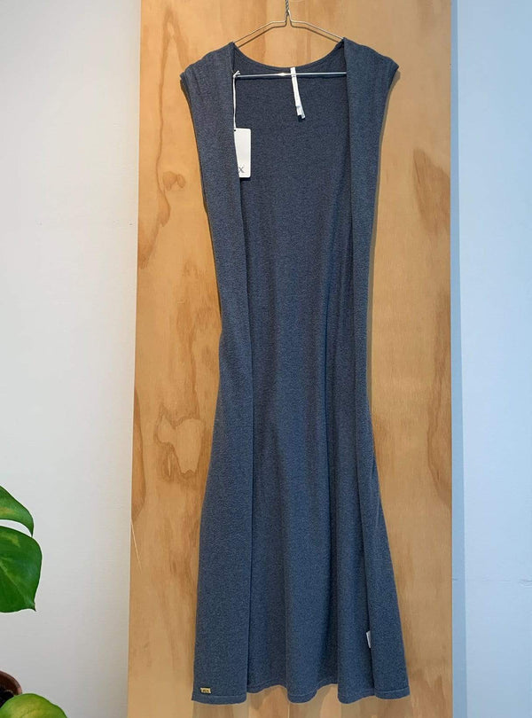 studio JUX Archive sale 36 Organic cotton - sleeveless cardigan - blue