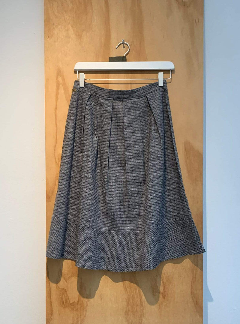 studio JUX Archive sale 36 Pleated skirt - grey check