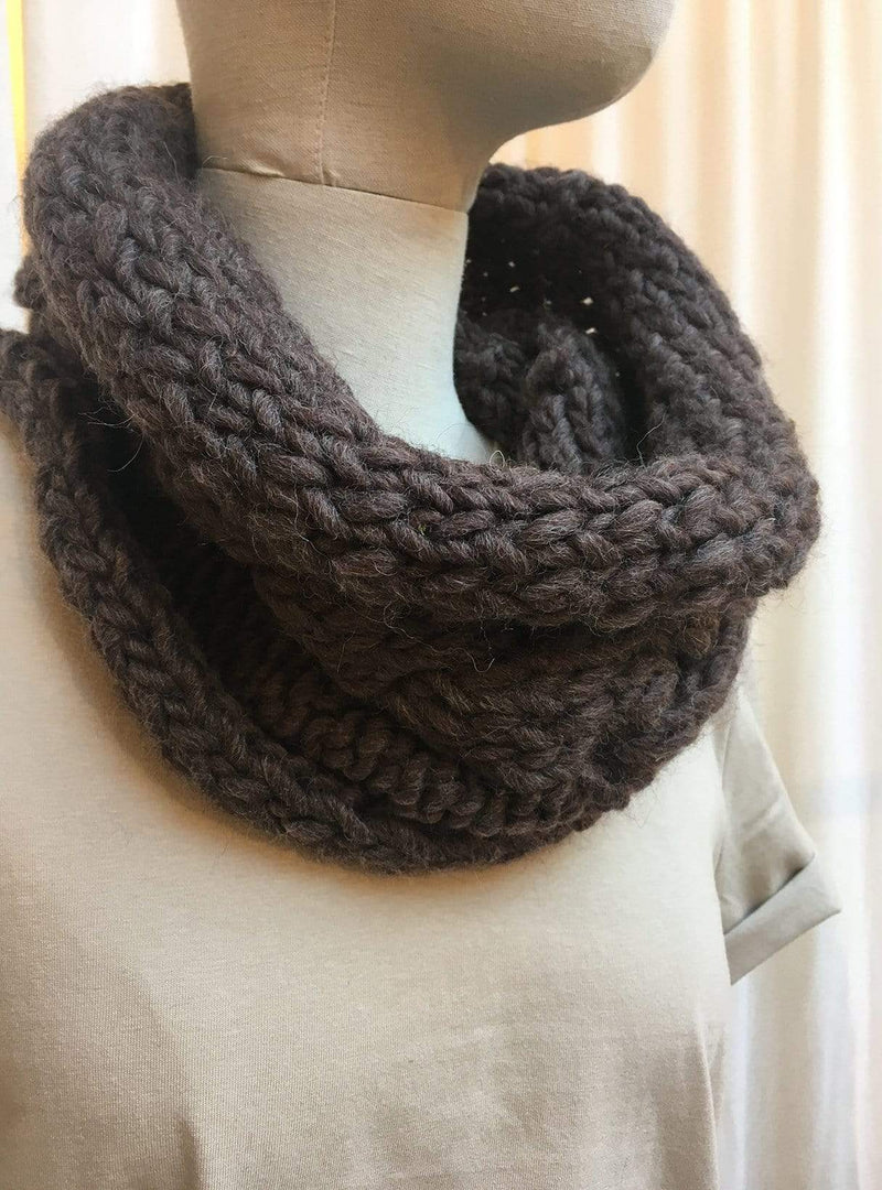 studio JUX Archive sale Alpaca wool - round scarf - grey