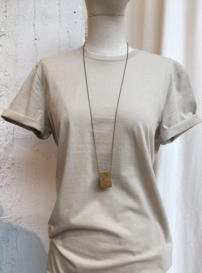 studio JUX Archive sale Block - necklace - recycled brass