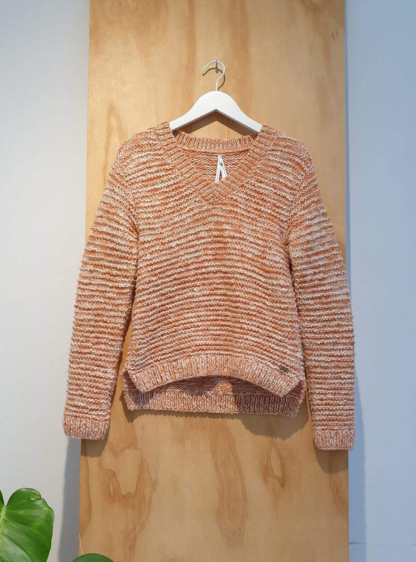 studio JUX Archive sale Handknit wool - sweater - orange