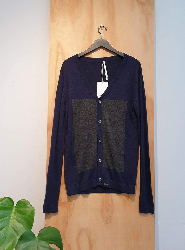 studio JUX Archive sale L Wool - cardigan - blue/grey
