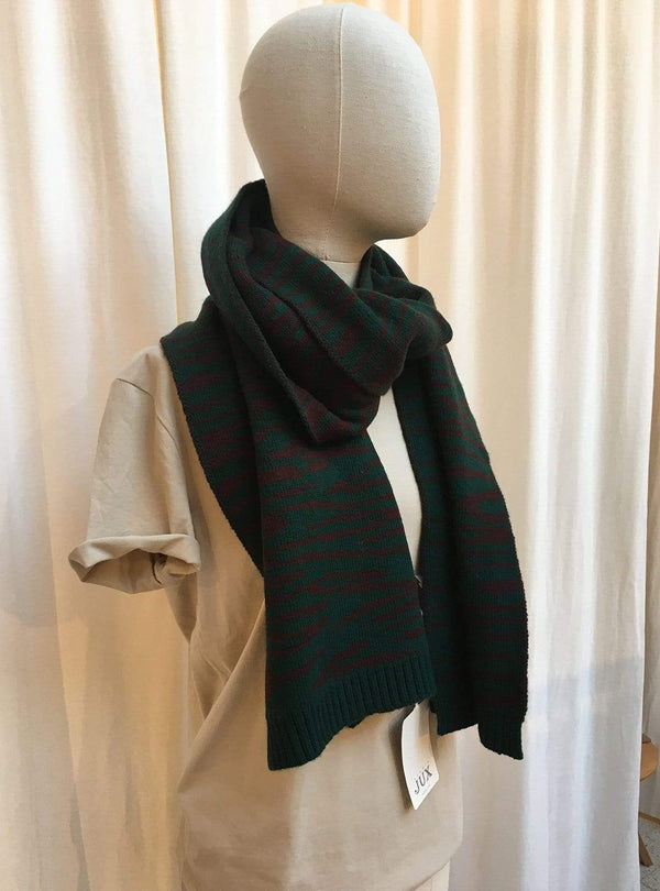 studio JUX Archive sale Lambs wool - scarf - green print