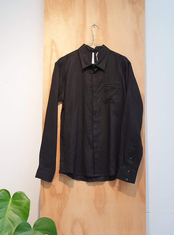 studio JUX Archive sale M Linen - shirt - black