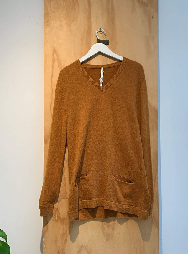 studio JUX Archive sale M Merino wool sweater - mustard yellow