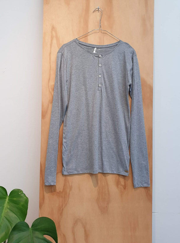 studio JUX Archive sale M Organic cotton - long sleeve t-shirt - grey