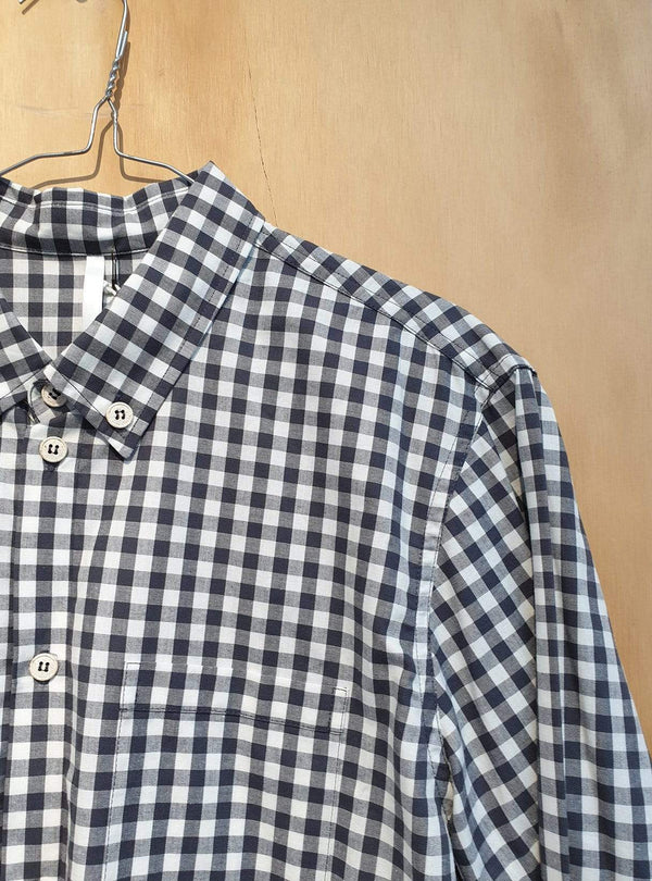 studio JUX Archive sale M Organic cotton - shirt - black/white check