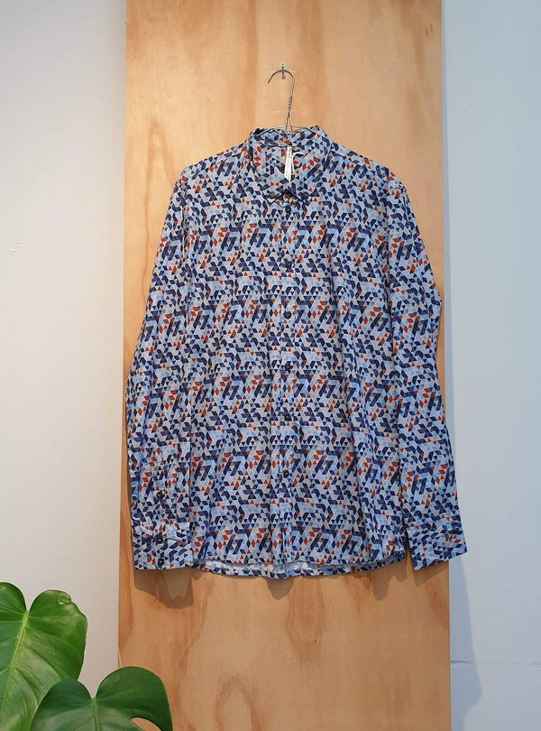 studio JUX Archive sale M Organic cotton - shirt - blue/red print