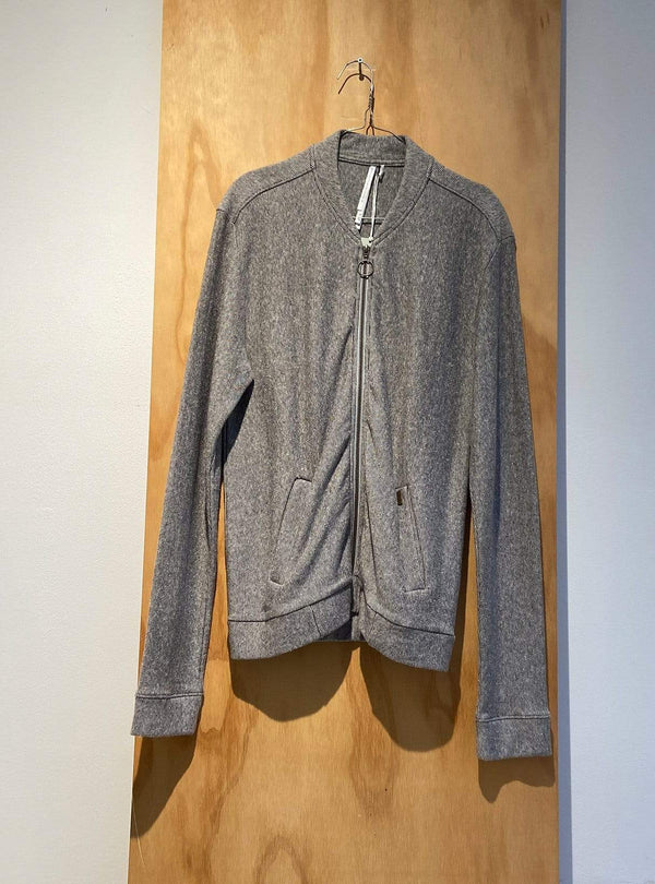 studio JUX Archive sale M Zipper carigan - thin stripe grey