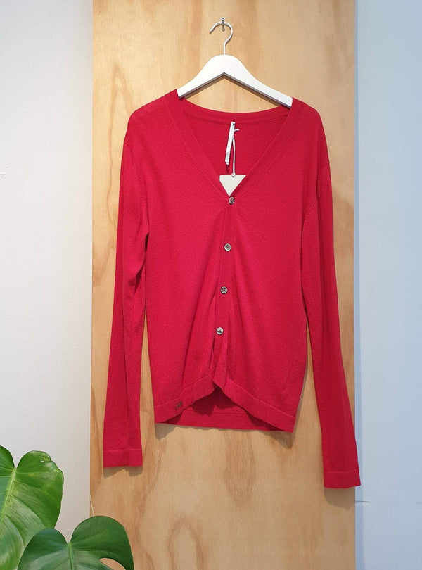 studio JUX Archive sale Organic cotton - cardigan - red
