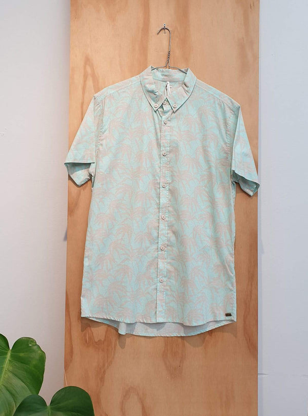 studio JUX Archive sale Organic cotton - short sleeve shirt - mint palm