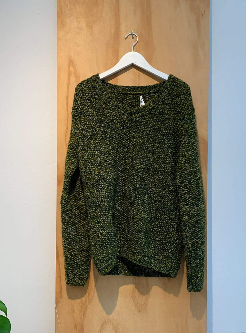 studio JUX Archive sale S Handknit wool - sweater - green