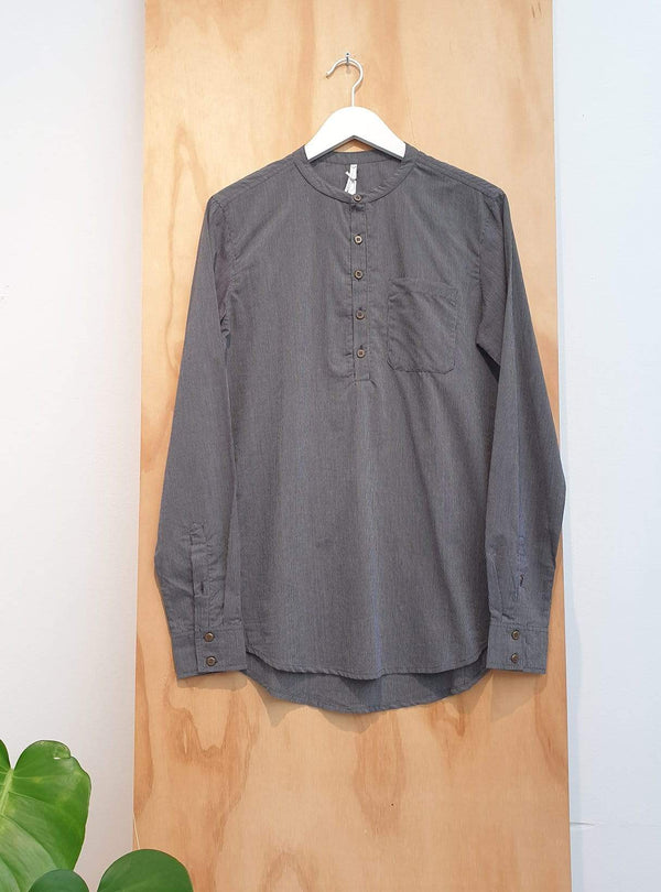 studio JUX Archive sale S Organic cotton - mandarin collar shirt