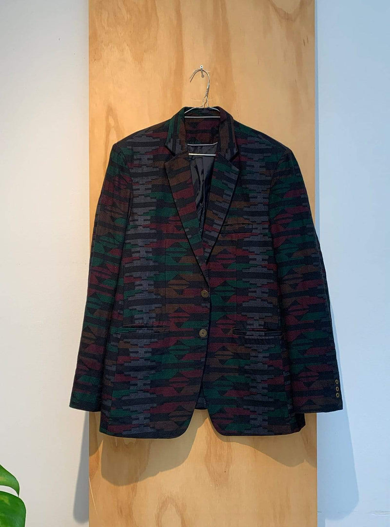 studio JUX Archive sale XL Handwoven cotton - jacket - dhaka print
