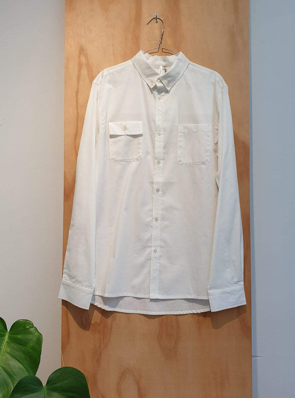 studio JUX Archive sale XL Organic cotton - double pocket shirt - white