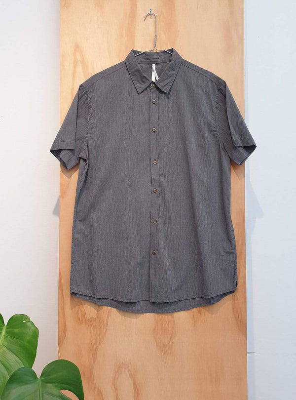 studio JUX Archive sale XL Organic cotton - short sleeve shirt - thin stripe