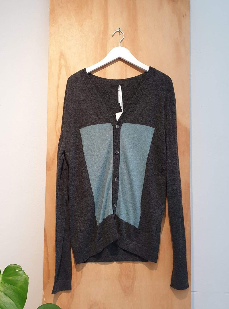 studio JUX Archive sale XL Wool - cardigan - dark grey/blue