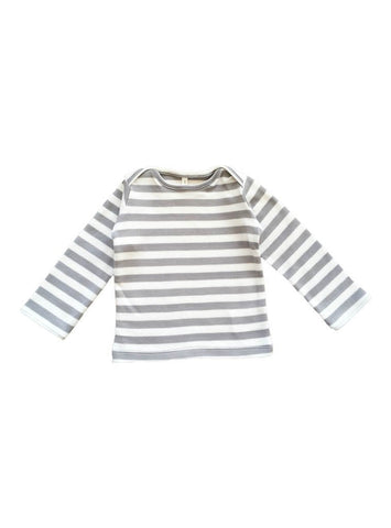 Baby long sleeve shirt - grey stripe