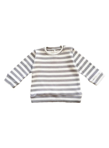 Baby sweater - grey stripe