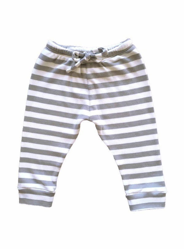studio JUX baby 0-3 Baby sweatpants - grey stripe