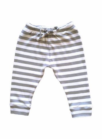 Baby sweatpants - grey stripe