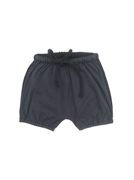 Baby shorts - blue grey / black