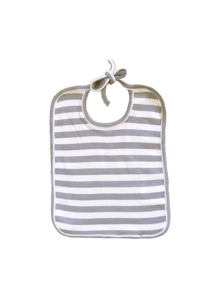 Baby bib - grey stripe