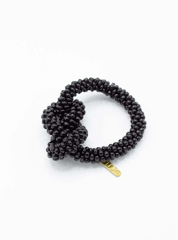 studio JUX Bracelets Thick knot - beaded bracelet - black