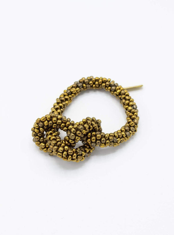 studio JUX Bracelets Thick knot - beaded bracelet - brass