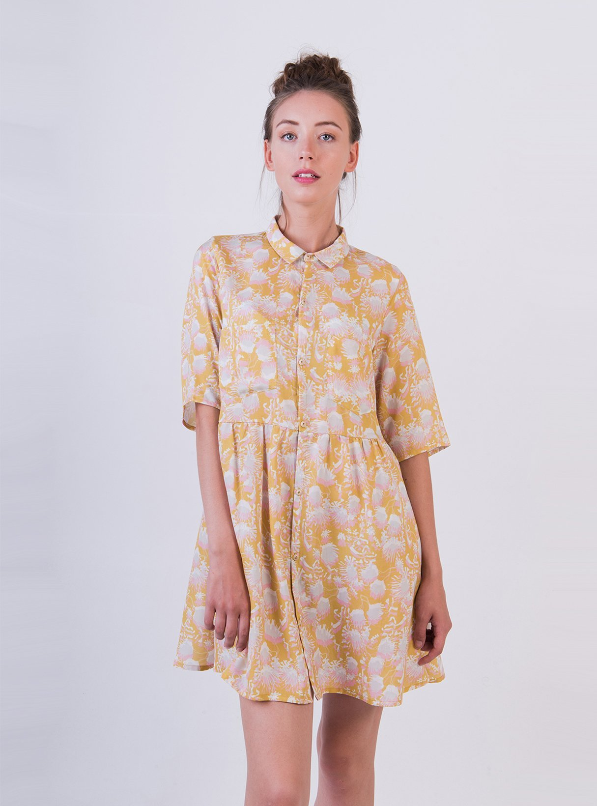 Shirt dress - summer flower