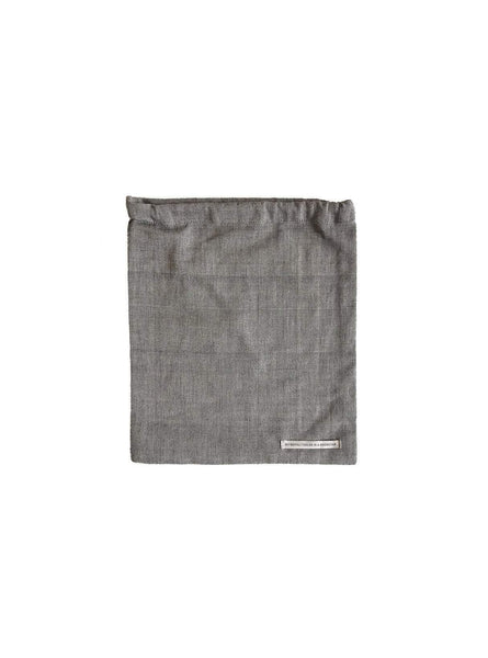 Food bag S - light grey melange - 17 x 20 cm