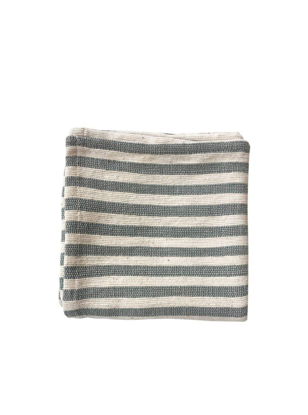 studio JUX home Handwoven cotton napkin - grey stripe