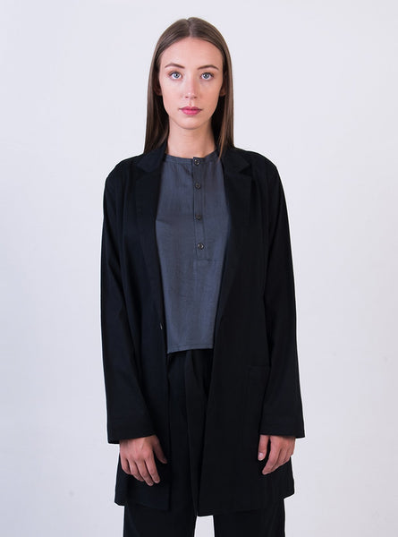 Oversized jacket - black