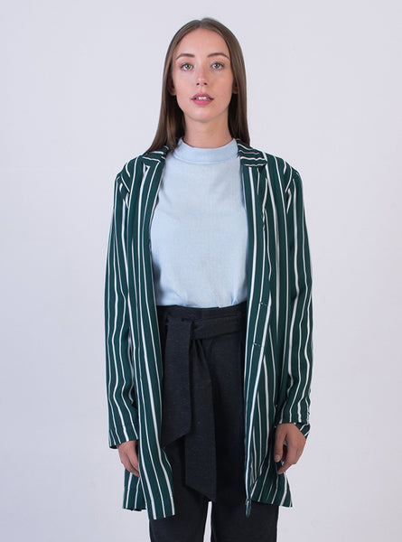 Oversized jacket - deep sea stripe