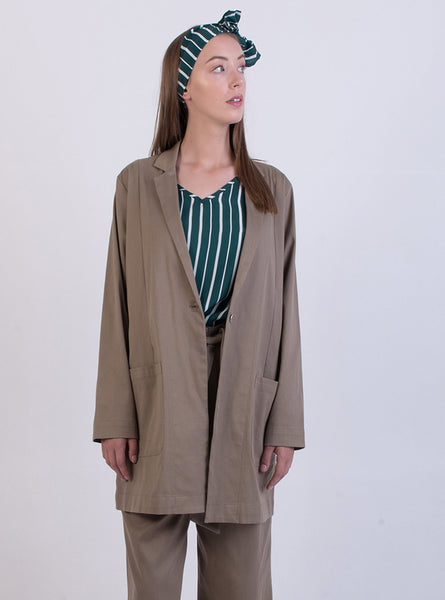Oversized jacket - khaki