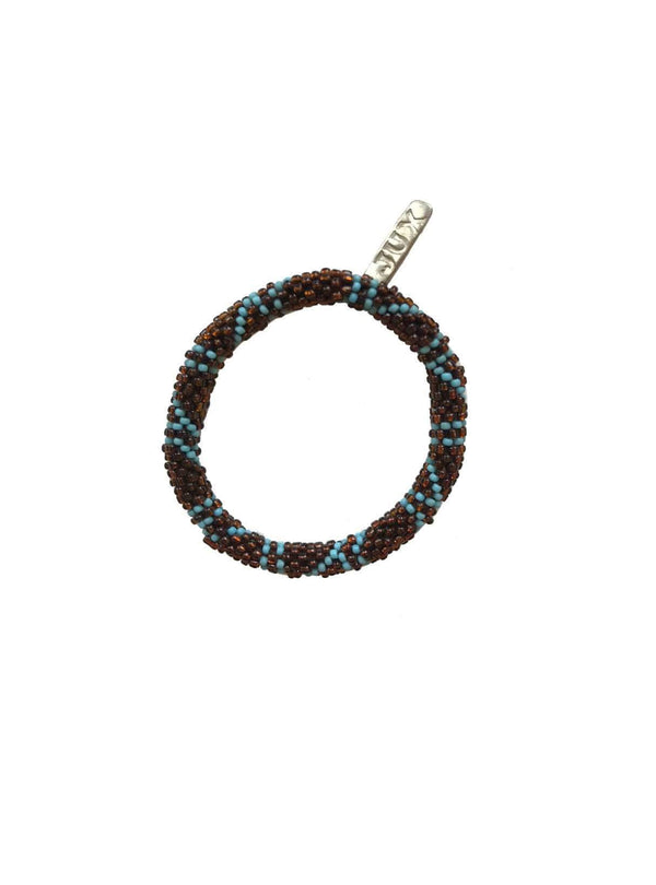 studio JUX jewellery Beads bracelet - bronze blue pattern