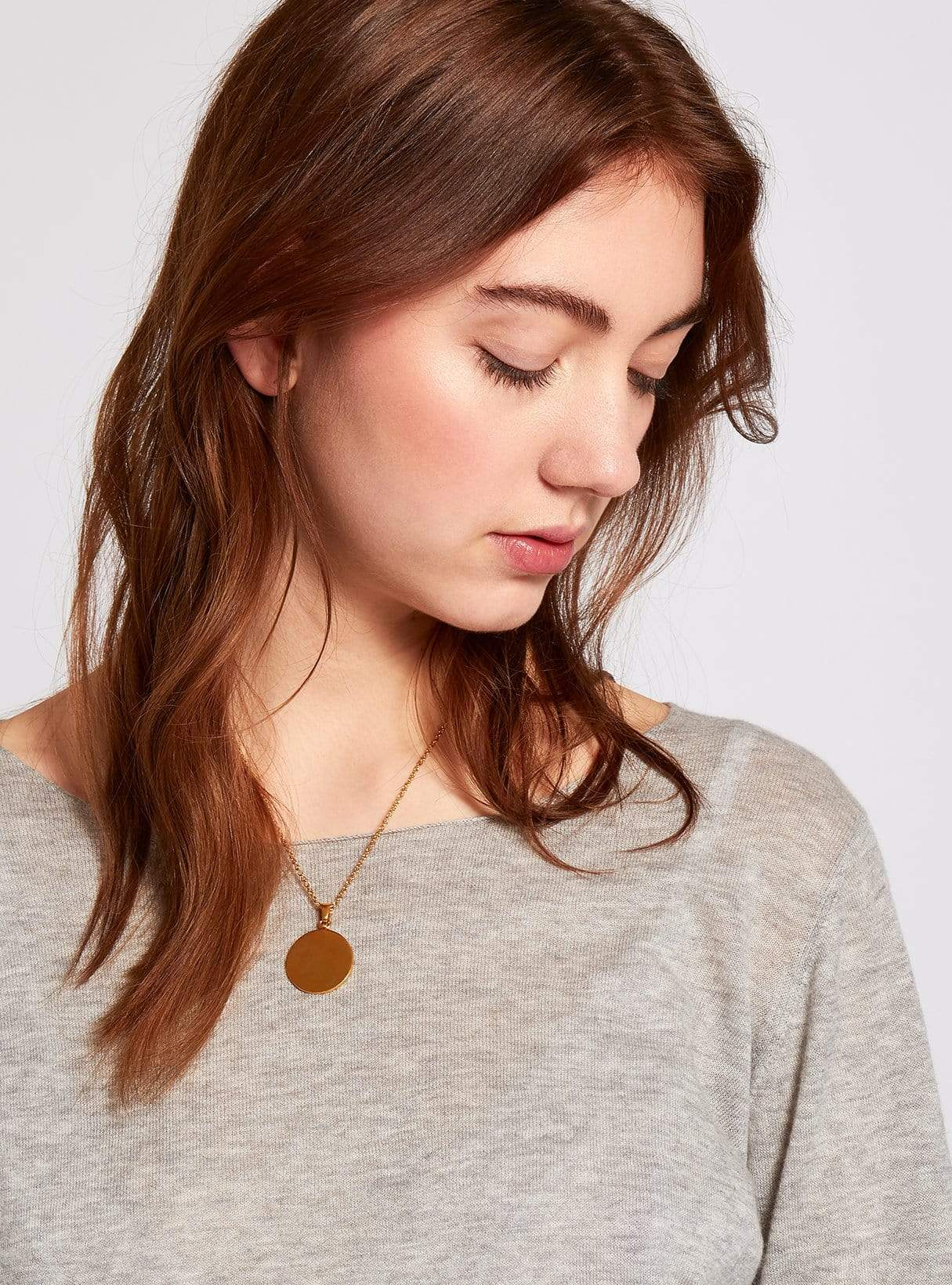 Coin necklace - brass