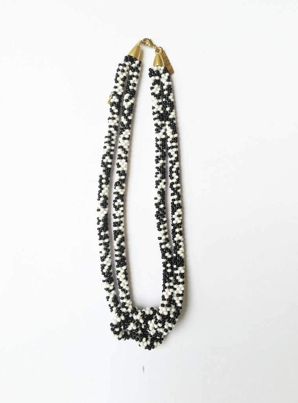 studio JUX jewellery Necklace thick knot - black/white