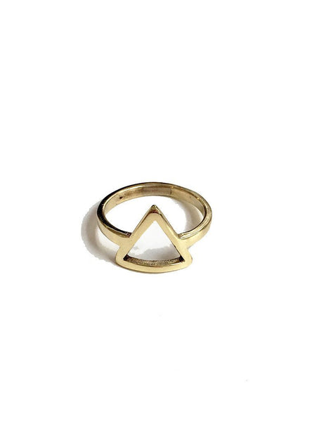 Ring triangle - brass
