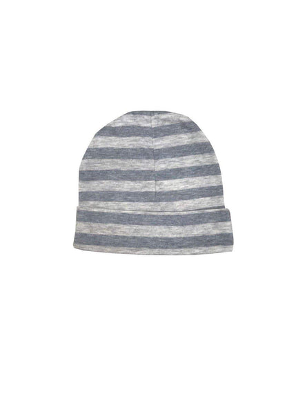Baby hat - grey stripe melange