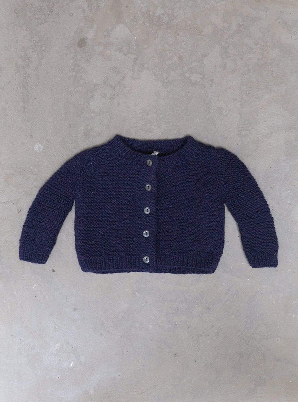 studio JUX Kids tops Baby hand-knit cardigan one-size - dark blue