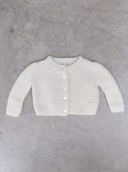 studio JUX Kids tops Baby hand-knit cardigan one-size - off white