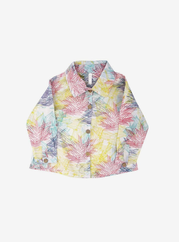 studio JUX Kids tops Shirt with collar - summer flower